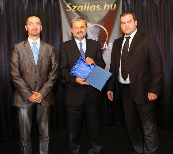 Év Települése díjátadó: Kabály Zsolt, dr. Sóvágó László, Varga Zoltán